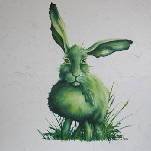 green-hare-artprint